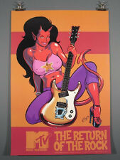 Coop, Devil-Girl, MOSRITE Electric Guitar, Lg. Poster.