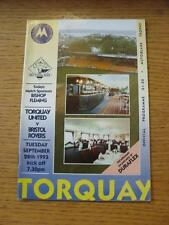 28/09/1993 Torquay United v Bristol Rovers [Autoglass Trophy] . Item In very goo
