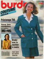 Burda Couture n°9401 - 1994 - Modèles du 36 au 46 - complet avec patrons -