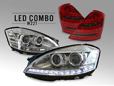 COMBO Facelift LED Headlight+ Philips Xenon Bulb +Tail Light 07-09 Mercedes W221