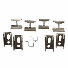 Revive Raw Metal Column Radiator Wall Mounting Brackets, Set of 4