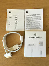GENUINE APPLE iPhone 4 4S 3G 3GS,iPad 3/2/1 CHARGER USB LEAD CABLE - Retail Pack