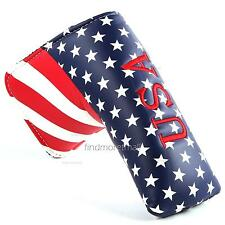USA Embroideried Blade Golf Putter Headcover for Yes Taylormade Odyssey Titleist
