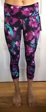Lululemon SIZE 6 Wunder Under Crop III Fullux Midnight Bloom Purple Black MBBF