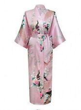 Hot High Quality Long women lady Girls Bride Kimono Robe satin Night dress Gown