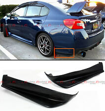 For 2015-17 Subaru WRX VA1 VA2 Sti 2pc Style Rear Bumper Aero Side Aprons Caps