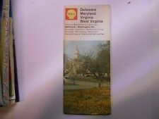 ancienne carte routière usa Delaware Maryland... Shell road map