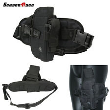 Tactical Left Right Hand Gun Pistol Leg Drop Holster Bag Pouch Airsoft Hunting