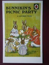 POSTCARD  LADYBIRD BOOK COVER - BUNNIKIN'S PICNIC PARTY