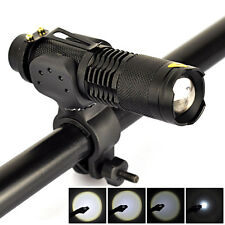 2500LM XM-L T6 LED 18650 Cycling Bicycle Light  Zoomable Flashlight Torch+Mount