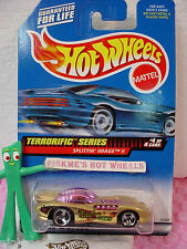 1999 Hot Wheels SPLITTIN IMAGE II #980 ☆ Gold dark pink dome☆Attack Killer Flies