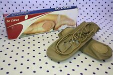 So Danca MD-02 Adult SIZE 4.5 M Tan Leather Split Sole Irish GHILLIE Dance Shoes