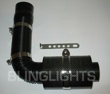 "BlingLights 3"" Carbon Fiber Cold Air Intake + Sensor Adapters Extendable Tubing"