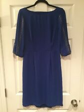 BCBG Max Azria Royal Blue Brass Studded Dress 3/4 Length Sleeves Size M NWT!