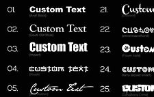 2X CUSTOM VINYL DECAL sticker car name window door CHOOSE COLOUR & FONT