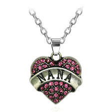 Fashion NANA Family CrysRal Love HearR PendanR RhinesRone Necklace Chain R2H06