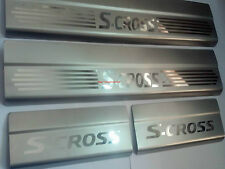 Car Stainless Steel Foot Step Sill Plate Set of 4 pieces :- S-cross/ SCROSS