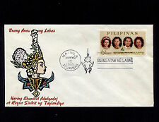 OPC 1965 Philippines 6s King & Queen of Thailand Visit FDC Sc#929