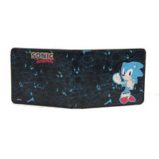 Sonic the Hedgehog Sonic and Outlines Black Bifold Wallet NEW