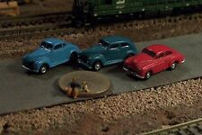 3 Old Era Automobile Cars N Scale Vehicles