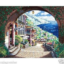 "Dimensions Gold Counted Cross Stitch kit 15"" x 12"" ~ COASTAL VIEW #70-35265 Sale"