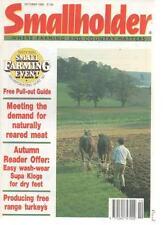 SMALLHOLDER MAGAZINE October 1990 Producing Free Range Turkeys AL