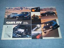 1986 Shelby GLHS Vintage Info Comparison Article with a Shelby GT350 Mustang