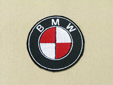 BMW EMBLEM CUSTOM RED WHITE CAR MOTORCYCLE BIKER RACING PATCH - MADE IN USA