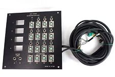 """SBK Songs Outboard Auxiliary XLR 1/4""""  Bulkhead Patchpanel Wall Panel 30 Channel"""