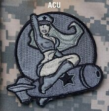 PINUP GIRL ACU COMBAT TACTICAL BLACK OPS ISAF HOOK BADGE MORALE MILITARY PATCH