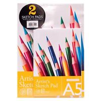 A4 / A5 ARTIST SKETCH DRAWING BOOK PAD 25 SHEETS 130GSM SKETCHING SHEETS PAPER