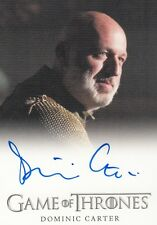 Game of thrones saison 4-dominic carter (janos Slynt) full bleed autograph