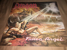 Dragon Fallen Angel Record Heavy Metal Music Tears Of Satan Into The Dark