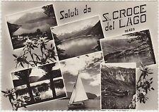 SALUTI DA S.CROCE DEL LAGO - VEDUTINE - FARRA D'ALPAGO (BELLUNO) 1958