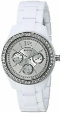 Fossil Women's ES3813 'Stella' Multi-Function Crystal White Resin Watch