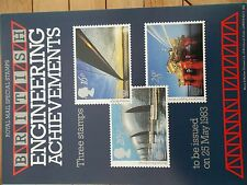 ROYAL MAIL A4 POST OFFICE POSTER 1983 BRITISH ENGINEERING THAMES FLOOD BARRIER