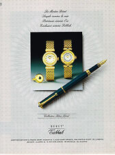 PUBLICITE ADVERTISING 084  1990  TABBAH    montres & stylos BLUE BERET