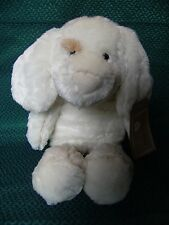 """TESCO FLOPPY FRIENDS CUDDLE PIPED PUPPY DOG SOFT HUG TOY WITH TAGS 16"""" APPROX"""