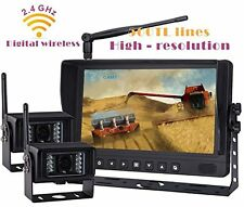 "9"" DIGITAL WIRELESS REAR VIEW BACKUP CAMERA SYSTEM KIT SPLIT LCD NO INTERFERENCE"