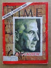TIME magazine S20 1968 SPIRO AGNEW-Electoral College-THE WHO-Nixon Humphry VOTE