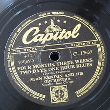 78rpm STAN KENTON 4 months 3 weeks 2 days 1 hour blues / across the alley alamo