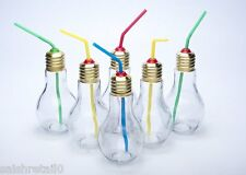 Favola Bulb Shape Funky Jar Glass Set of 8 (250ml)