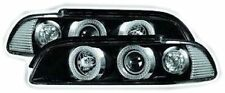 BMW 5 Series E39 (95-00) Black Halo Angel Eye Projector Front Headlights Lights