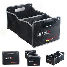 1Pcs Nismo Black Weaving Clot & Embroidery Auto Trunk Lid Inside Containing Box
