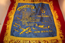 """WW2 US Airforce USAAF Airborne Pillow Case/Cover """" SweetHeart """" Miami Beach Fl."""