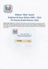 BILLY BOOTH BRIGHTON 1909-14 CHARITY SHIELD WINNER 1910 ORIGINAL SIGNED CUTTING