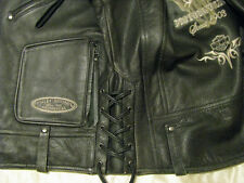 Harley Davidson Leather Motorcycle Jacket Limited H-D Biker Bull Skull Mens M