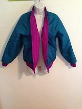 Columbia Vintage 90's Reversible Insulated Ski Jacket, Purple/Teal Sz Women's L