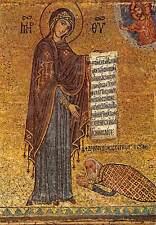 Italy Plaermo Chiesa della Martorana, Deisis of the Admiral to the Virgin