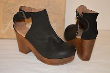 New $168 Free People Clog Amber Orchard Black Leather Platform Bootie Boot
